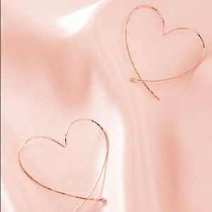 Stella & Dot Essential Hammered Heart Hoops